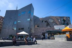 Federation Square in Melbourne is a mixed-use development in the inner city royalty free stock image