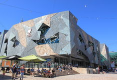 Federation Square Melbourne cityscape Royalty Free Stock Image