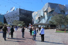 Federation Square cityscape Melbourne Royalty Free Stock Image