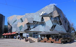 Federation Square cityscape Melbourne Royalty Free Stock Images