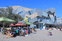 Federation Square cityscape Melbourne Stock Photography