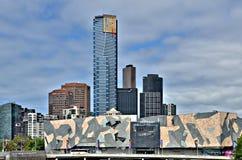 Federation Square, Melbourne. Unique design of Federation Square in Melbourne, Australia royalty free stock photos