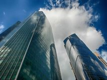 The Federation Tower. Is a complex of two skyscrapers built on the 13th lot of the Moscow International Business Center MIBC in Moscow, Russia stock images