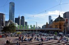 Federationfyrkant - Melbourne Fotografering för Bildbyråer
