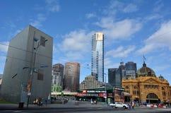 Federationfyrkant - Melbourne Arkivfoto