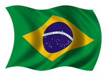 Federative Republic of Brazil Flag. The Flag of the Federative Republic of Brazil blowing in the wind Royalty Free Stock Photography