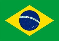 Federative Republiek van de Vlag van Brazilië stock illustratie