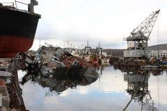 Federazione Russa di regione abbandonata Nord di Murmansk Russia Immagine Stock Libera da Diritti