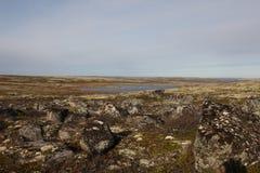 Federazione Russa di regione abbandonata Nord di Murmansk Russia Fotografia Stock Libera da Diritti