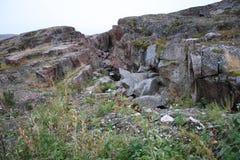 Federazione Russa di regione abbandonata Nord di Murmansk Russia Immagine Stock