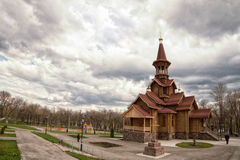 Federazione Russa, samara, chiesa della città Fotografie Stock Libere da Diritti