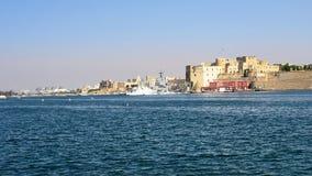 Federciano Roszuje, wojskowy przesyła i wysyła w Brindisi przy zmierzchem obrazy royalty free