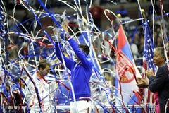 Federer & Djokovic США раскрывают 2015 (146) Стоковое Изображение