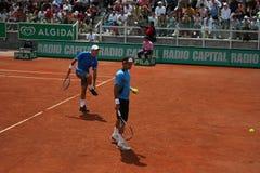Federer en Wawrinka in Rome Stock Foto's