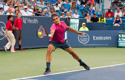 Federer 005. Mason, Ohio - August 18, 2015:  Roger Federer at the Western and Southern Open in Mason, Ohio, on August 18, 2015 Royalty Free Stock Photography