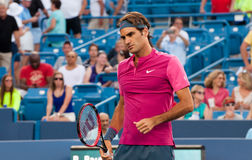 Federer 002. Mason, Ohio - August 18, 2015:  Roger Federer at the Western and Southern Open in Mason, Ohio, on August 18, 2015 Royalty Free Stock Photography