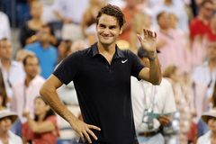 Federer Roger le (7) grand Images stock