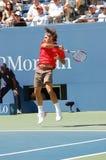 Federer Roger Meister US öffnen 2008 (01) stockfotografie