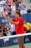 Federer Roger Meister US öffnen 2008 (103) Lizenzfreie Stockbilder