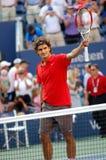 Federer Roger Meister US öffnen 2008 (104) Stockfotografie