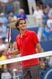 Federer Roger Meister US öffnen 2008 (111) Stockfotos