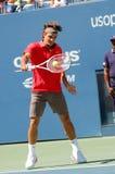 Federer Roger in US öffnen 2008 (2) Lizenzfreie Stockbilder