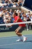 Federer Roger in US öffnen 2008 (20) Lizenzfreies Stockbild
