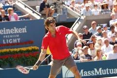 Federer Roger in US öffnen 2008 (24) Lizenzfreie Stockbilder