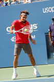 Federer Roger at US Open 2008 (2). Federer Roger (SUI) in QF of US Open 2008 Royalty Free Stock Images