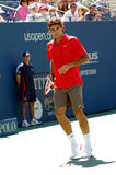 Federer Roger at US Open 2008 (26) Stock Image