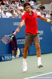 Federer Roger at US Open 2008 (53). Federer Roger (SUI) in QF of US Open 2008 Stock Photos