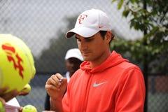 Federer in US öffnen 2009 (3) Lizenzfreies Stockbild