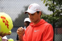 Federer at US Open 2009 (3). Federer is the first favourite of US Open 2009 Royalty Free Stock Image