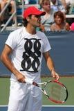 federerspelareroger tennis Royaltyfria Bilder