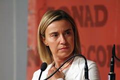 Federica Mogherini, rozpusta sprawy Służy - prezydent Europejska prowizja, Cudzoziemski - obraz stock