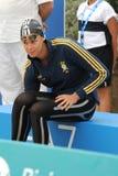 Federica Pellegrini. MILAN, ITALY - SEPT 21:  Federica Pellegrini swimming champion during the performance september 21, 2008 in Milan, ITALY Stock Image