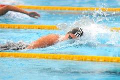 Federica Pellegrini. MILAN, ITALY - SEPT 21:  Federica Pellegrini swimming champion during the performance september 21, 2008 in Milan, ITALY Stock Photos