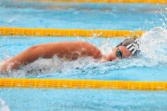 Federica Pellegrini. MILAN, ITALY - SEPT 21:  Federica Pellegrini swimming champion during the performance september 21, 2008 in Milan, ITALY Stock Photo