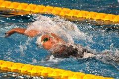 Federica Pellegrini swimmer wins 200mt backstroke final during 7th Trofeo citta di Milano swimming Stock Images