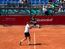 Federico Delbonis and Lucas Pouille Semifinals Match Royalty Free Stock Image