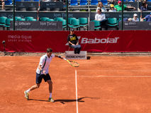 Federico Delbonis and Lucas Pouille Semifinals Match Royalty Free Stock Photo