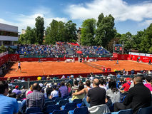 Federico Delbonis and Lucas Pouille Semifinals Match Royalty Free Stock Photos