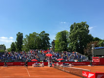 Federico Delbonis and Lucas Pouille Semifinals Match Stock Image