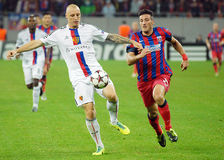 Federico Piovaccari and Ivan Ivanov during Champions League game Stock Photo
