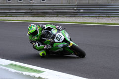 Federico Sandi #23 on Kawasaki ZX-10R Team Pedercini Superbike WSBK Royalty Free Stock Images