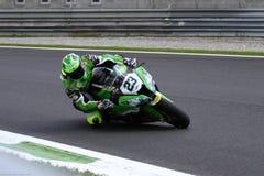 Federico Sandi #23 sur Kawasaki ZX-10R Team Pedercini Superbike WSBK images libres de droits