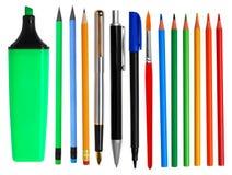 Federn und Bleistifte Lizenzfreie Stockfotos