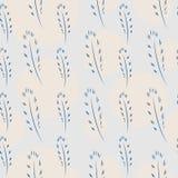 Federn und Kreis-nahtloses Muster Stockbilder