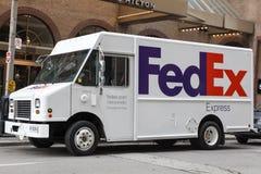 Fedex acarrea en la ciudad de Toronto foto de archivo libre de regalías