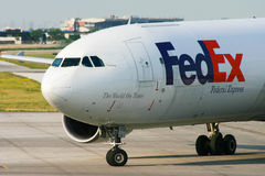 FedEx Airbus A310 Plane Stock Photo